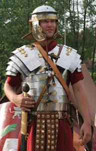 Lorica sementata, protección de la legíon romana durante el alto imperio