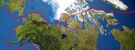 Mapa del paso del noroeste
