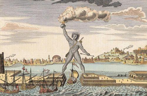 El Coloso de Rodas (Una de las siete maravillas del mundo antiguo)