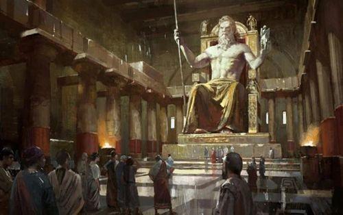 Estatua de Zeus en Olimpia (Una de las siete maravillas del mundo antiguo)