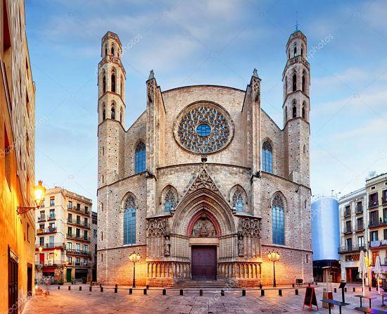 Exterior de Santa María del Mar. La catedral del mar y de los pobres