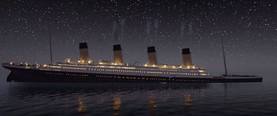 Mensaje de auxilio del Titanic a las 0045