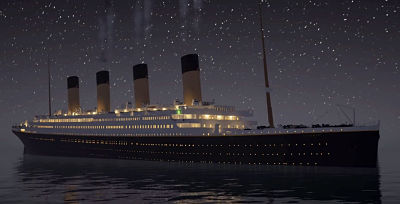 Mensajes de auxilio del Titanic a las 00 15