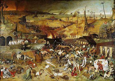 La plaga de Peste Negra en Europa en 1348