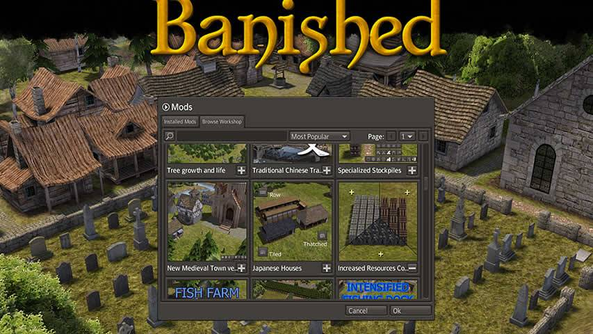 Banished PC Mods disponibles en Steam