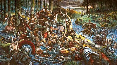 La batalla del bosque de Teutoburgo