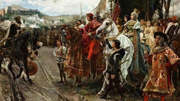La rendición de Granada ante los Reyes Católicos