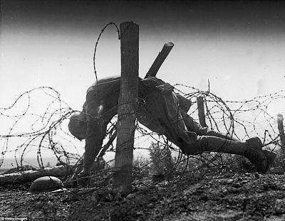 Las alambradas en 1917